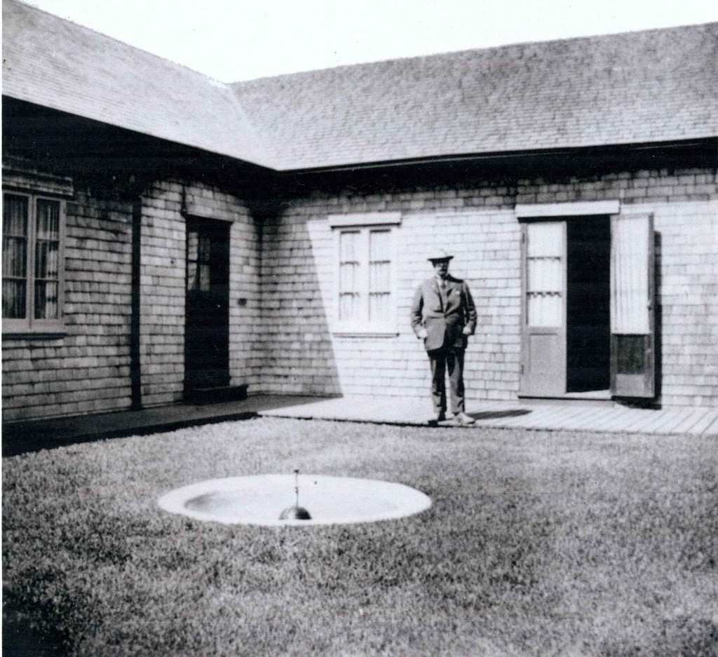 Henry Meyer in the courtyard of the Lodge.