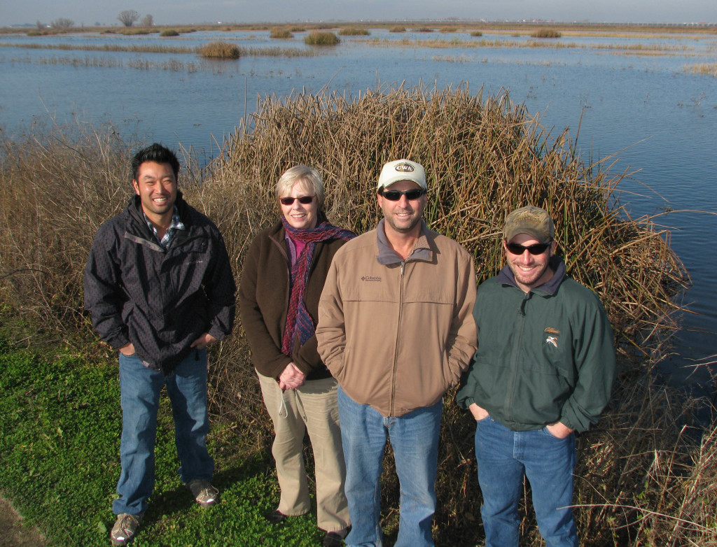 Partners in front of recently completed State Duck Stamp Project