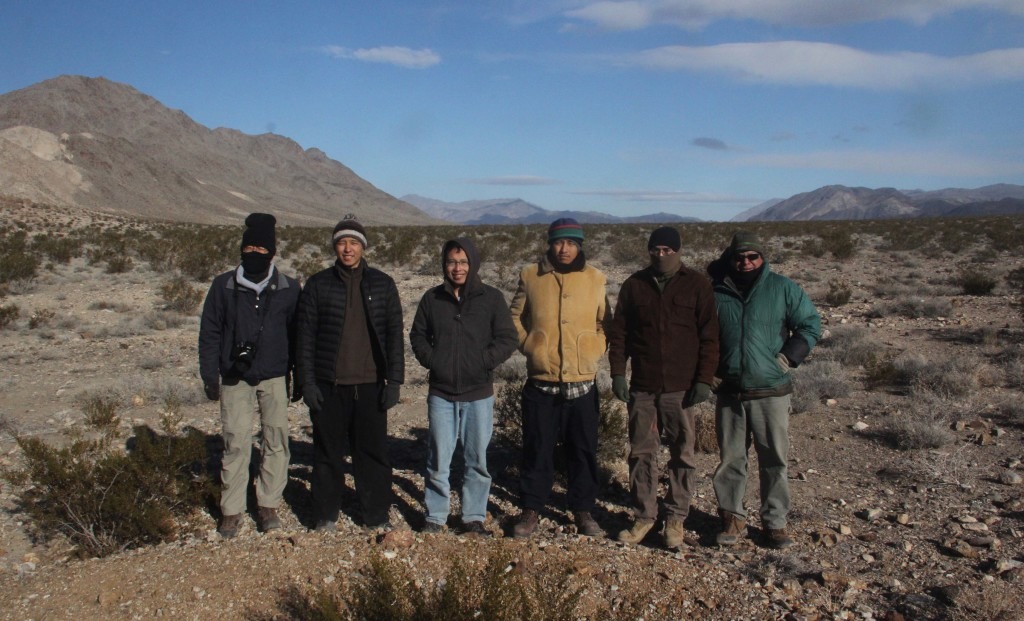 Our hardy crew in the Death Valley back country.