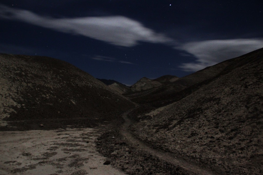 Desert Trail at night.