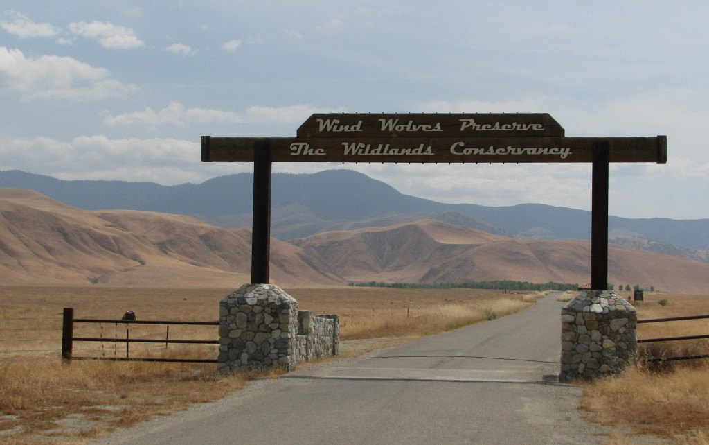 Wind Wolves Preserve entrance
