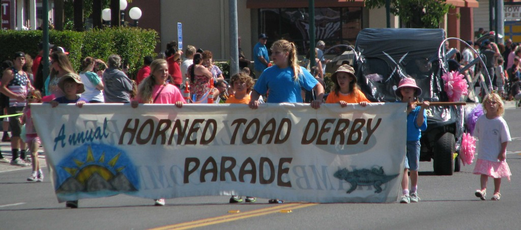 The beginning of the Horned Toad Parade